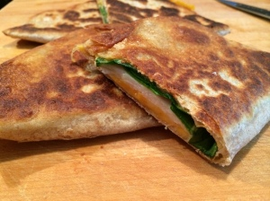 Turkey, CHeese & Spinach Quesadilla